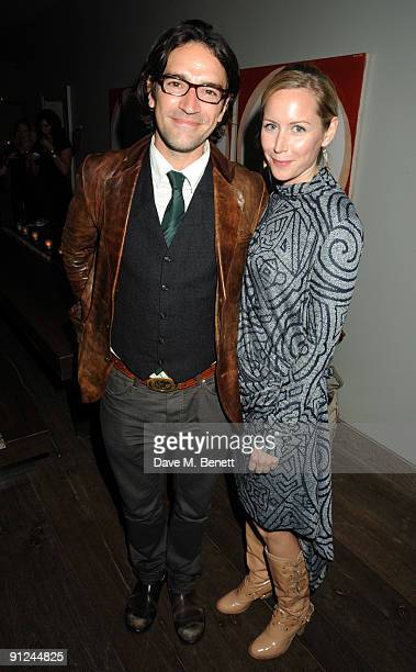 Ben Chaplin and Megan Dodds attend the afterparty following the press night of 'Breakfast At Tiffany's' at the Haymarket Hotel on September 29 2009...