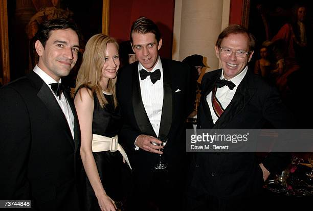 Ben Chaplin Megan Dodds Ben Elliot and David Collins attend the Quintessentially Diner des Tsars gala evening in aid of UNICEF at the Guildhall on...