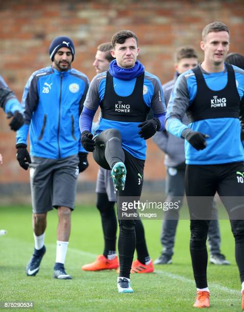Ben Chilwell during the Leicester City training session at Belvoir Drive Training Complex on November 17 2017 in Leicester United Kingdom