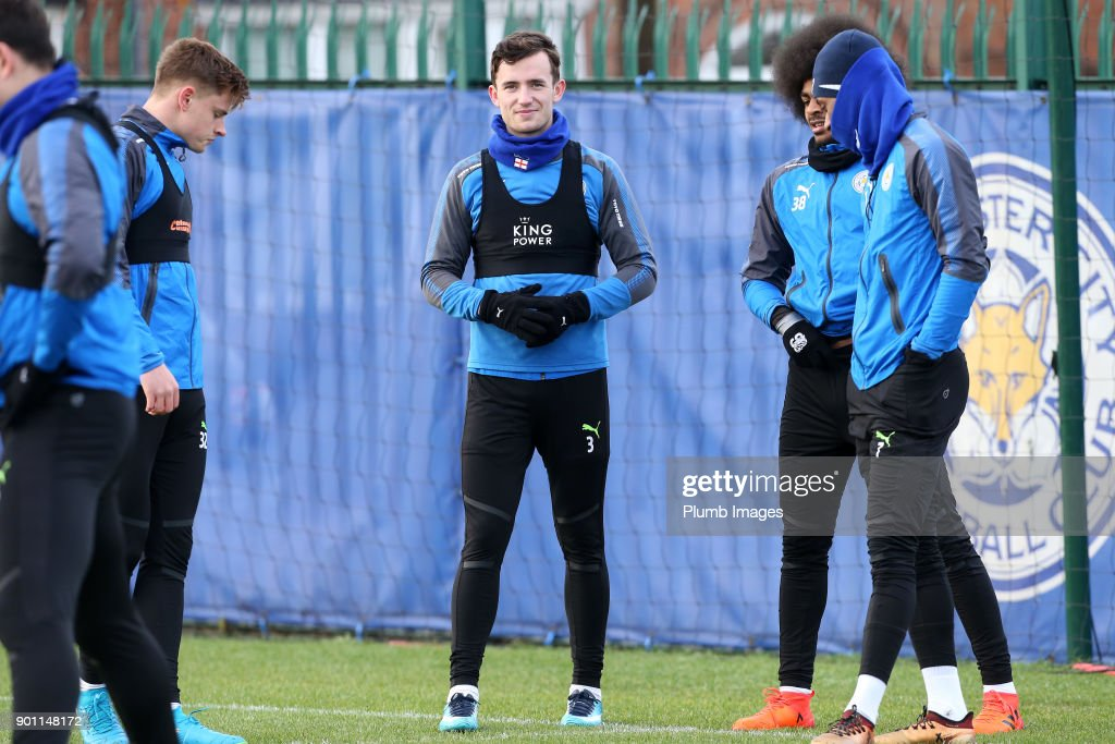 Ben Chilwell during the Leicester City training session at Belvoir Drive Training Complex on January 04 , 2018 in Leicester, United Kingdom.