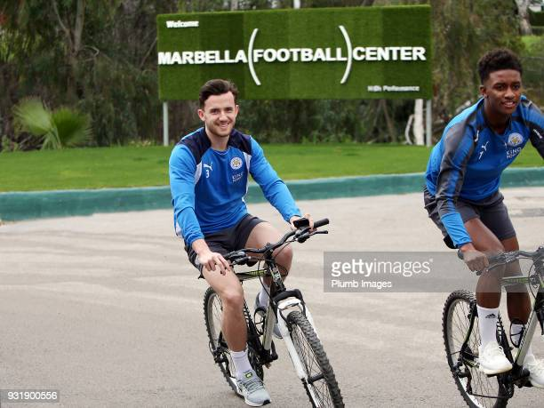 Ben Chilwell during the Leicester City training session at the Marbella Soccer Camp Complex on March 14 2018 in Marbella Spain