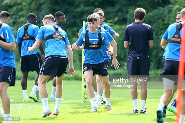 Ben Chilwell during the Leicester City training session at their preseason training camp on July 14 2015 in Spielfeld Austria