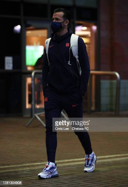Ben Chilwell of Chelsea arrives at the stadium prior to the UEFA Champions League Group E stage match between Chelsea FC and FC Sevilla at Stamford...