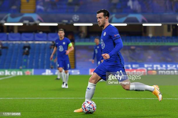 Ben Chilwell of Chelsea controls the ball during the UEFA Champions League Group E stage match between Chelsea FC and FC Sevilla at Stamford Bridge...