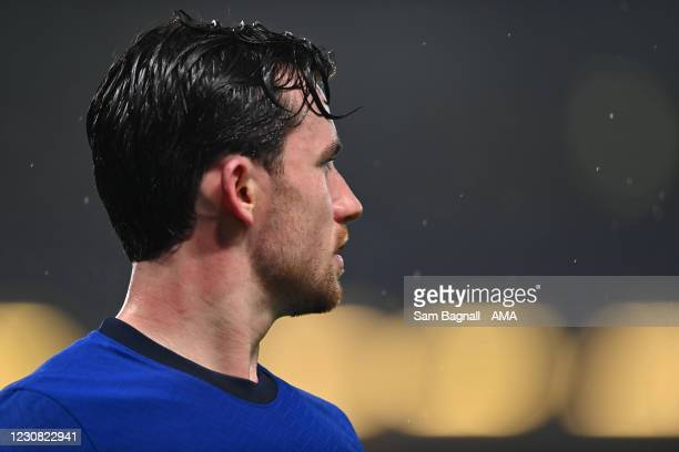 Ben Chilwell of Chelsea during the Premier League match between Chelsea and Wolverhampton Wanderers at Stamford Bridge on January 27, 2021 in London,...