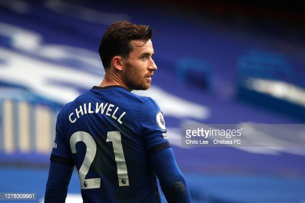 Ben Chilwell of Chelsea during the Premier League match between Chelsea and Crystal Palace at Stamford Bridge on October 03, 2020 in London, England....