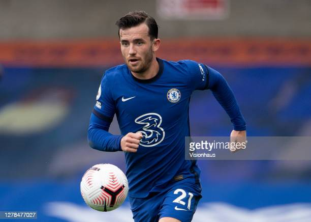 Ben Chilwell of Chelsea during the Premier League match between Chelsea and Crystal Palace at Stamford Bridge on October 03 2020 in London England...