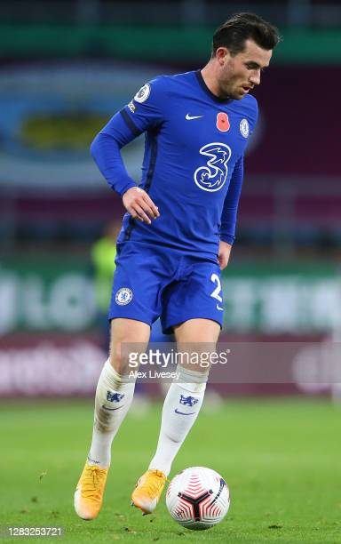 Ben Chilwell of Chelsea during the Premier League match between Burnley and Chelsea at Turf Moor on October 31 2020 in Burnley England Sporting...