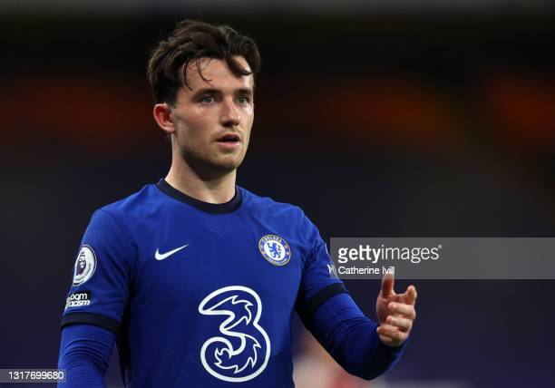 Ben Chilwell of Chelsea during the Premier League match between Chelsea and Arsenal at Stamford Bridge on May 12, 2021 in London, England. Sporting...