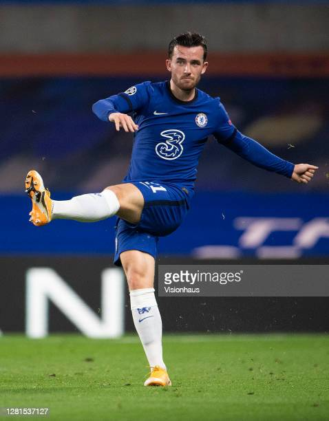 Ben Chilwell of Chelsea during the UEFA Champions League Group E stage match between Chelsea FC and FC Sevilla at Stamford Bridge on October 20 2020...