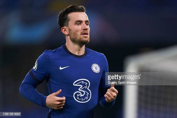 Ben Chilwell of Chelsea FC looks on during the UEFA Champions League Group E stage match between Chelsea FC and Sevilla FC at Stamford Bridge on...