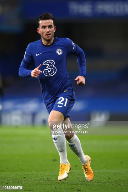 Ben Chilwell of Chelsea in action during the Premier League match between Chelsea and Southampton at Stamford Bridge on October 17 2020 in London...