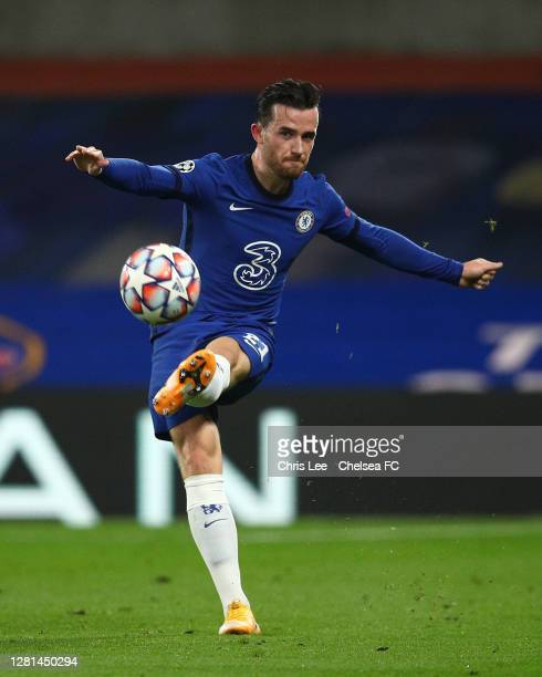 Ben Chilwell of Chelsea in action during the UEFA Champions League Group E stage match between Chelsea FC and FC Sevilla at Stamford Bridge on...
