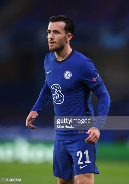 Ben Chilwell of Chelsea looks on during the UEFA Champions League Group E stage match between Chelsea FC and FC Sevilla at Stamford Bridge on October...