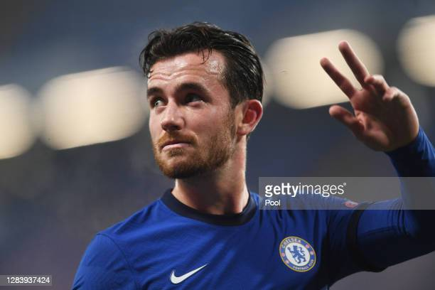 Ben Chilwell of Chelsea looks on during the UEFA Champions League Group E stage match between Chelsea FC and Stade Rennais at Stamford Bridge on...