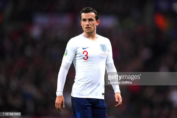 Ben Chilwell of England during the UEFA Euro 2020 qualifier between England and Montenegro at Wembley Stadium on November 14, 2019 in London, England.