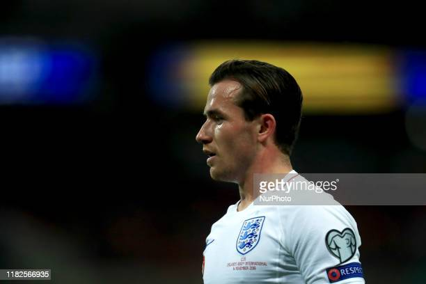 Ben Chilwell of England during the UEFA European Championship Group A Qualifying match between England and Montenegro at Wembley Stadium, London on...