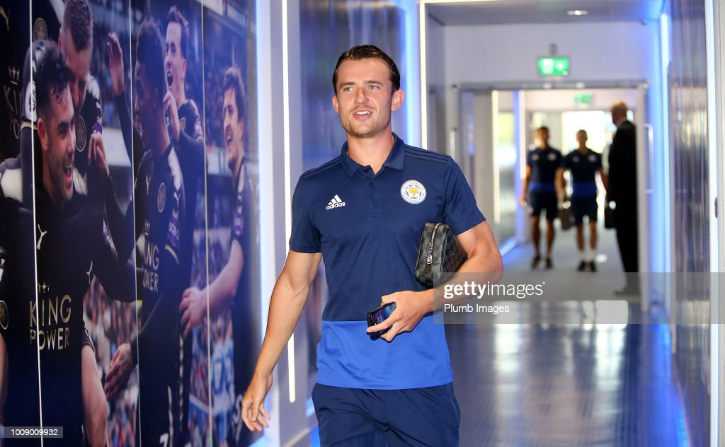 Ben Chilwell of Leicester City ahead of the friendly match between Leicester City and Valencia at King Power Stadium on August 1st , 2018 in Leicester, United Kingdom.