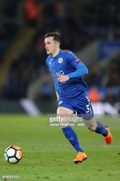 Ben Chilwell of Leicester City during the Emirates FA Cup Fifth Round match between Leicester City and Sheffield United at The King Power Stadium on...