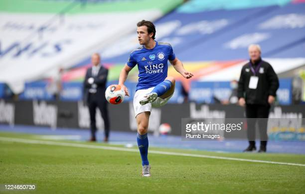 Ben Chilwell of Leicester City during the Premier League match between Leicester City and Crystal Palace at The King Power Stadium on July 4, 2020 in...
