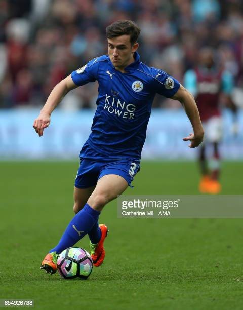 Ben Chilwell of Leicester City during the Premier League match between West Ham United and Leicester City at London Stadium on March 18 2017 in...