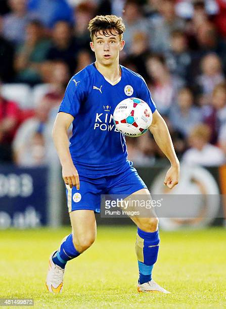 Ben Chilwell of Leicester city during the preseason friendly between Lincoln City and Leicester City at Sincil Bank Stadium on July 21 2015 in...