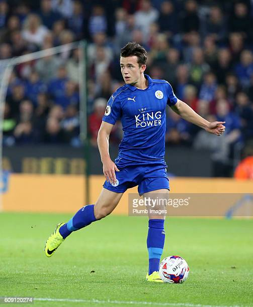 Ben Chilwell of Leicester City in action during the EFL third round cup match between Leicester City and Chelsea at the King Power Stadium on...