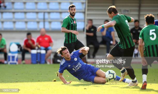 Ben Chilwell of Leicester City in action during the preseason friendly match between Leicester City and Akhisarspor at Stadion Villach on July 25th...