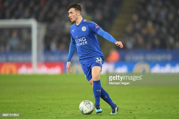 Ben Chilwell of Leicester in action during the Carabao Cup QuarterFinal match between Leicester City and Manchester City at The King Power Stadium on...