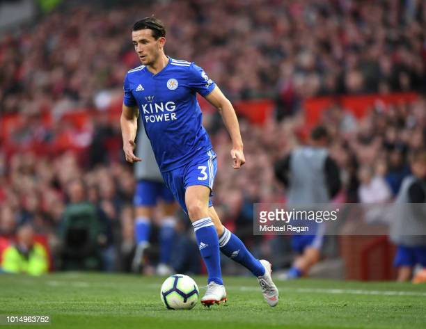 Ben Chilwell of Leicester in action during the Premier League match between Manchester United and Leicester City at Old Trafford on August 10 2018 in...