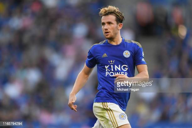 Ben Chilwell of Leicester in action during the Pre-Season Friendly match between Leicester City and Atalanta at The King Power Stadium on August 02,...