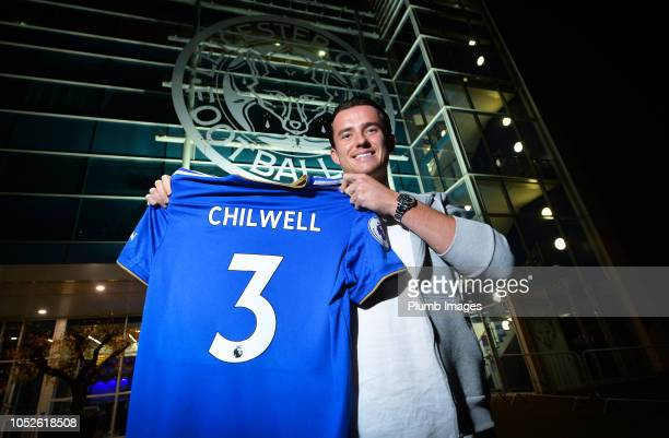 Ben Chilwell signs a new contract at Leicester City at King Power Stadium on October 19 2018 in Leicester United Kingdom