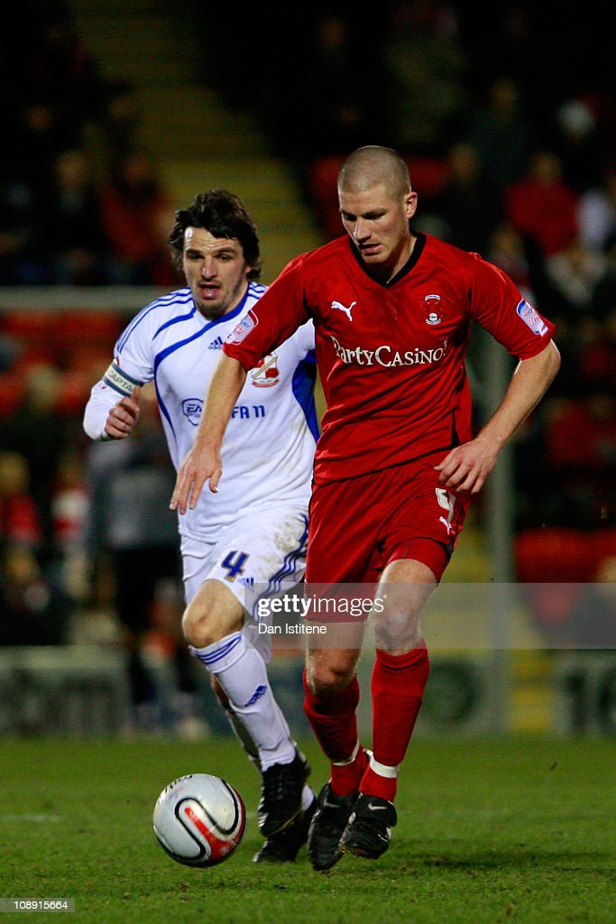 Ben Chorley (R) of Leyton Orient battles for the ball with Johnathan Douglas of Swindon during the npower League One match between Leyton Orient and Swindon Town at Matchroom Stadium on February 8, 2011 in London, England.