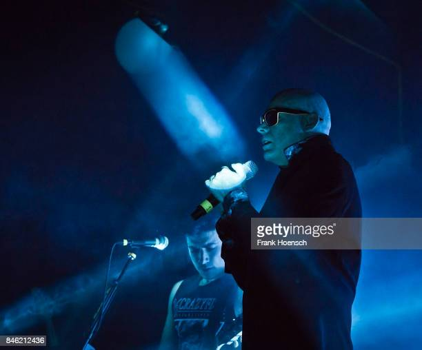 Ben Christo and Andrew Eldritch of the British band The Sisters of Mercy performs live on stage during a concert at the Columbiahalle on September 12...