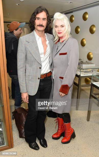 Ben Cobb and Pam Hogg attend the Photo London open house at Dover Street Market on May 17 2018 in London England