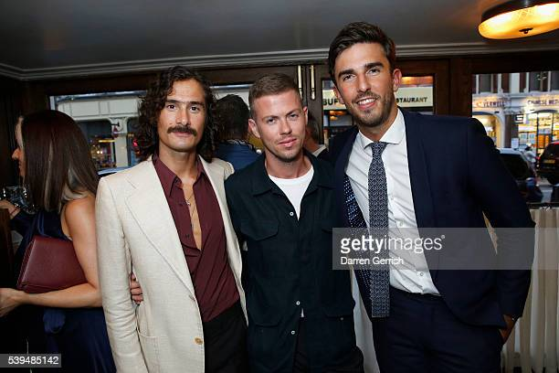 Ben Cobb Michael Hennegan and Teo Van den Broeke attend a dinner hosted by Tommy Hilfiger and Dylan Jones to celebrate LCM SS17 at Cafe Monico on...