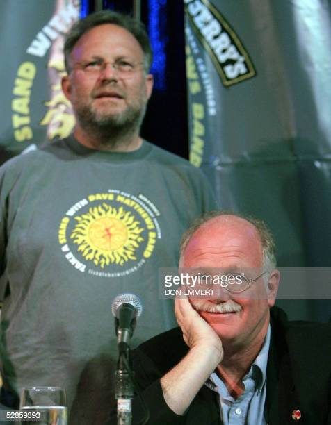 Ben Cohen and Jerry Greenfield cofounders of Ben Jerry's ice cream takes questions 17 May 2005 at a news conference in New York The Dave Matthews...