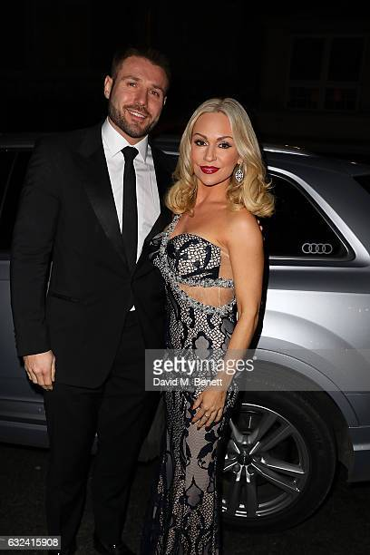 Ben Cohen and Kristina Rihanoff arrive in an Audi at the London Critcs' Circle Film Awards at The Mayfair Hotel on January 22 2017 in London United...