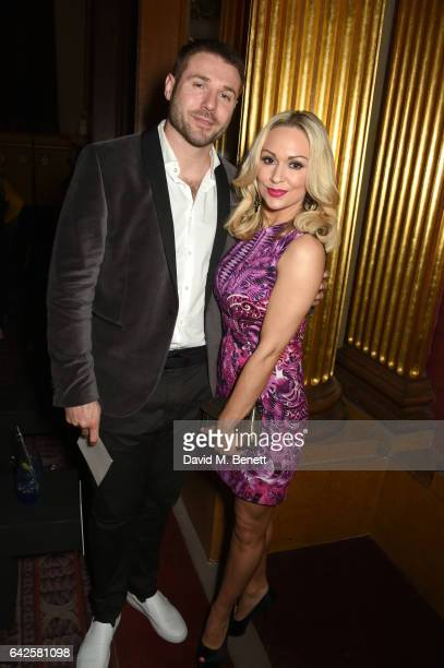 Ben Cohen and Kristina Rihanoff attend the Julien Macdonald show during the London Fashion Week February 2017 collections on February 18 2017 in...