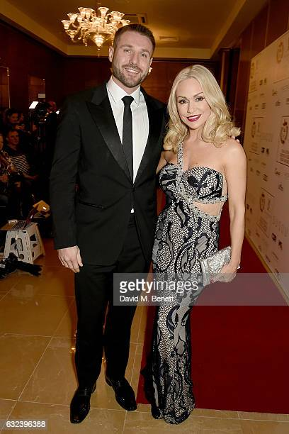 Ben Cohen and Kristina Rihanoff attend The London Critics' Circle Film Awards at the May Fair Hotel on January 22 2017 in London England
