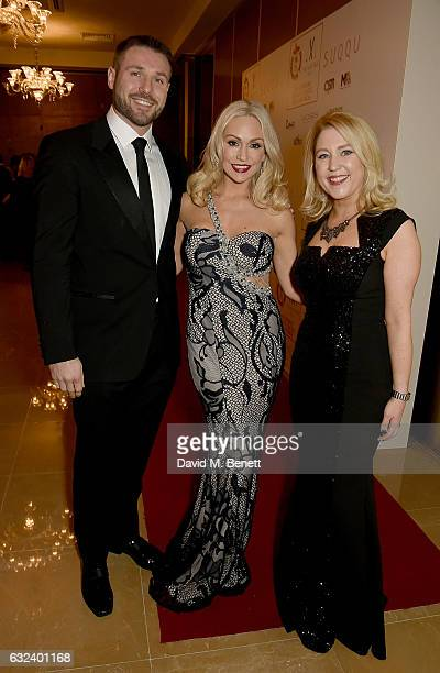Ben Cohen Kristina Rihanoff and Anna Smith attend The London Critics' Circle Film Awards at the May Fair Hotel on January 22 2017 in London England