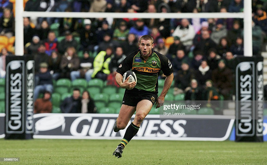 Ben Cohen Of Northampton Saints In Action During The Guinness Premiership Match Between And