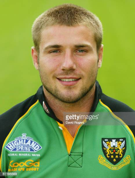 Ben Cohen pictured during the Northampton Saints squad photocall at Franklins Gardens on August 12, 2004 in Northampton, England.