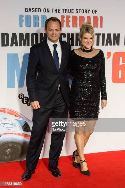 Ben Collins and Georgina Collins attend the UK film premiere of 'Le Mans '66' at Odeon Luxe Leicester Square during the 63rd BFI London Film Festival...