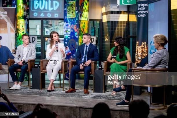 Ben Conard Bozhanka Vitanova Amir Ashour Shilpa Yarlagadda discuss One Young World with moderator Kate Robertson during the Build Series at Build...