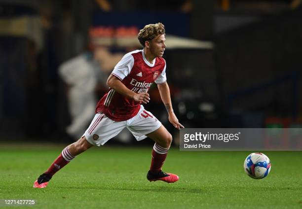 Ben Cottrell of Arsenal during the Leasingcom Cup match between Ipswich Town and Arsenal U21 at Portman Road on September 08 2020 in Ipswich England