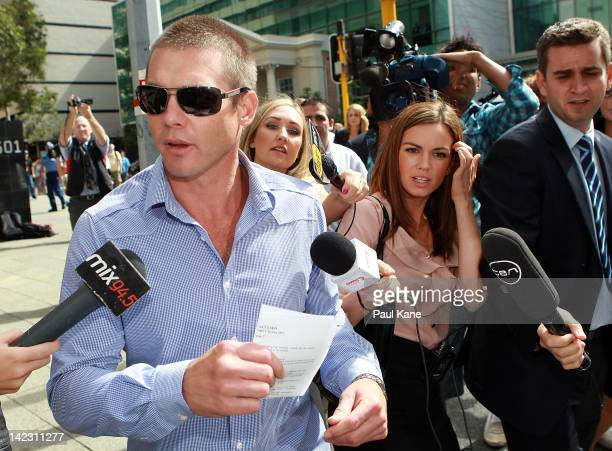 Ben Cousins departs from Perth Magistrates Court on April 2 2012 in Perth Australia Former AFL player Cousins was arrested last week on drug charges...