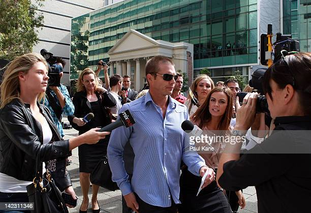 Ben Cousins departs from the Perth Magistrates Court on April 2 2012 in Perth Australia Former AFL player Cousins was arrested last week on drugs...