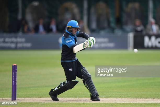 Ben Cox of Worcestershire bats during the Royal London OneDay Cup match between Worcestershire Rapids and Warwickshire at New Road on May 12 2017 in...