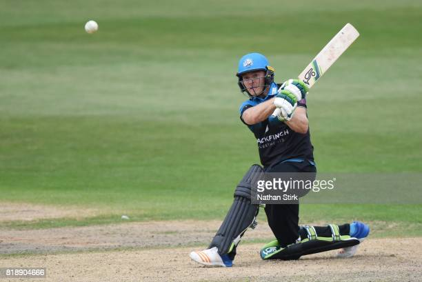 Ben Cox of Worcestershire Rapids batting during the NatWest T20 Blast match between Worcestershire Rapids and Derbyshire Falcons at New Road on July...